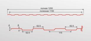 Профнастил С8 0,4 оцинкованный